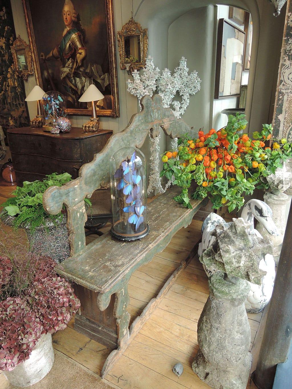 banc de couloir venitien polychrome ca 1780 st phane olivier paris. Black Bedroom Furniture Sets. Home Design Ideas
