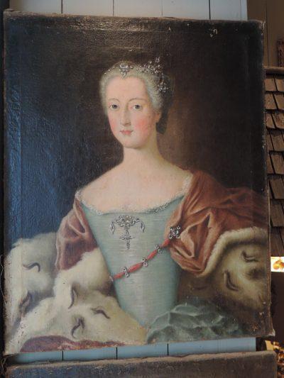 PAIRE DE PORTAITS DU DUC DE LORRAINE ET SON EPOUSE CA,1720