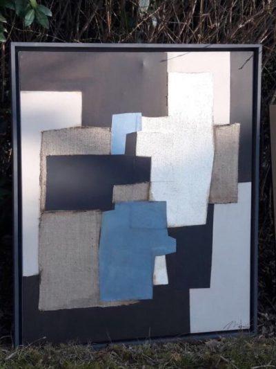 TABLEAUX-COLLAGES PAR L'ARTISTE ITALIEN EDOARDO MENINI