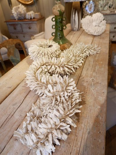 SCULPTURE IN RAW BISCUIT OF PORCELAIN AND HEMP