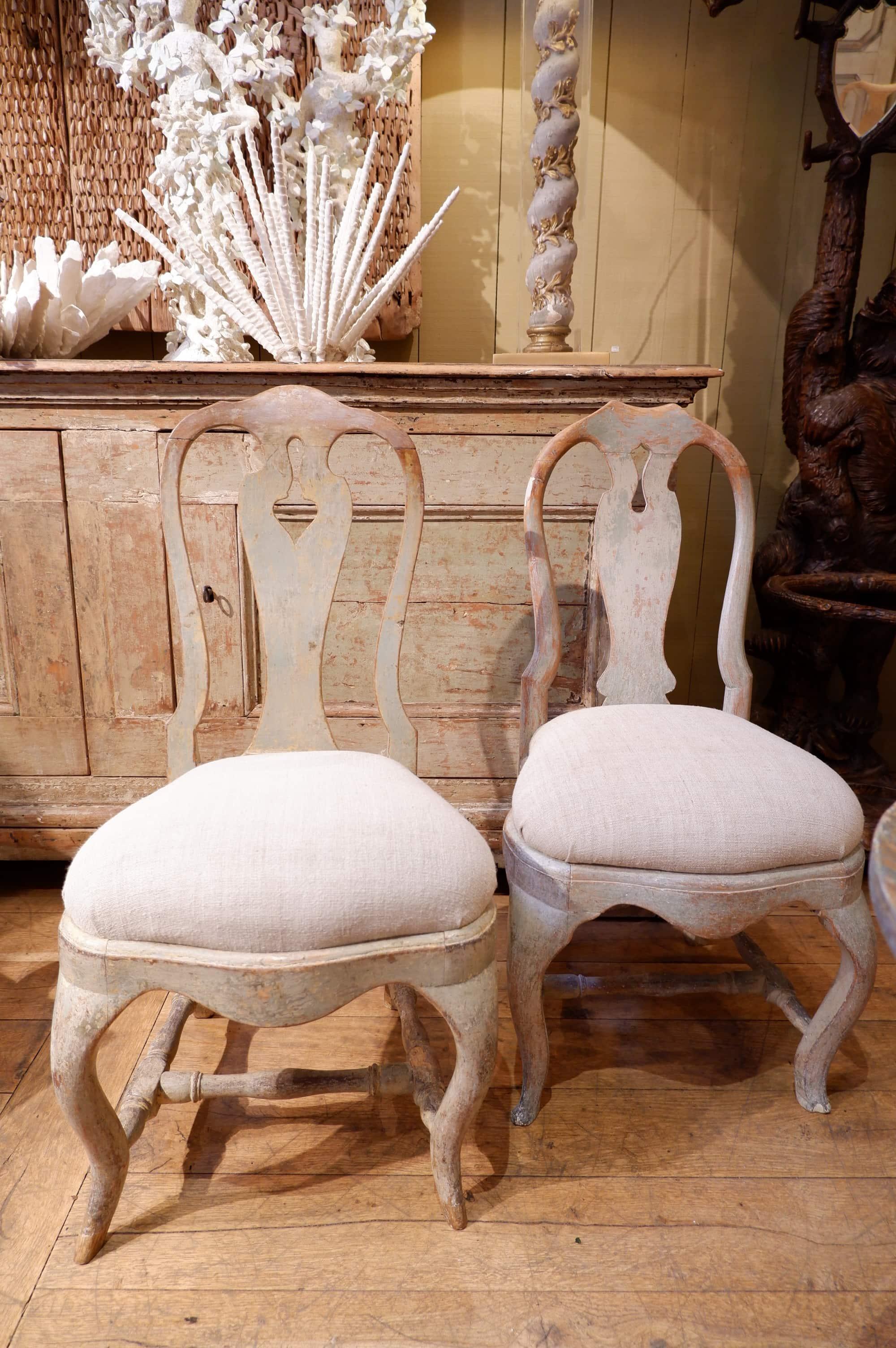 paire de chaises su doises baroques patine vert d 39 eau ca. Black Bedroom Furniture Sets. Home Design Ideas