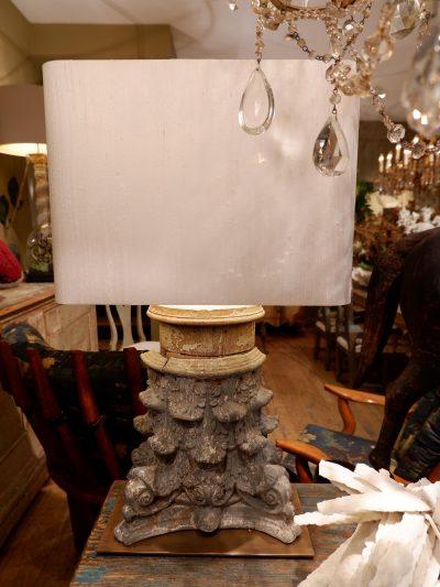 Paire de lampe grand chapiteau en zinc + AJ en soie