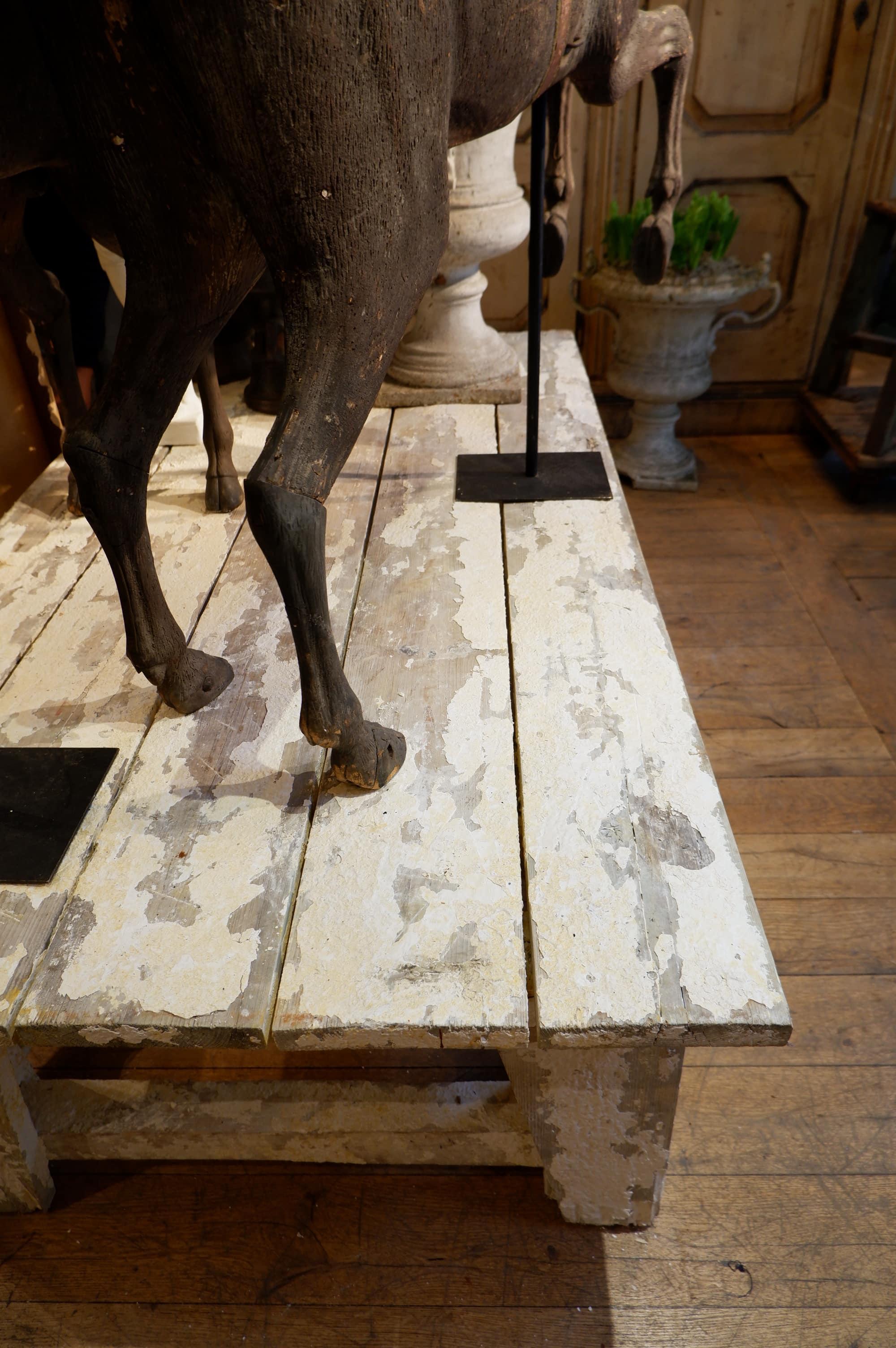 Grande selette d'atelier de sculpteur fin XIXe – en bois