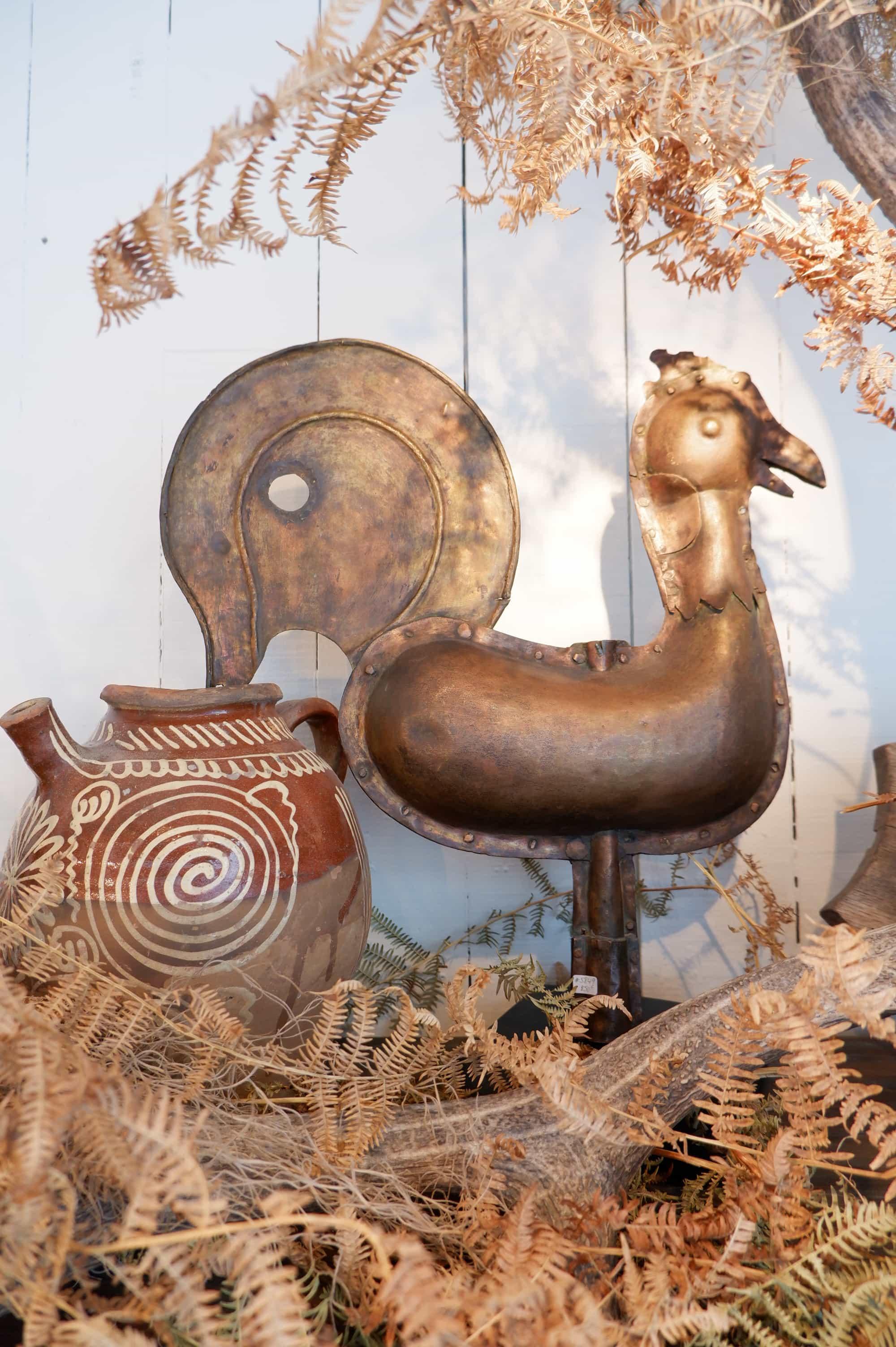 Coq – Epi de faîtage en cuivre XIXe