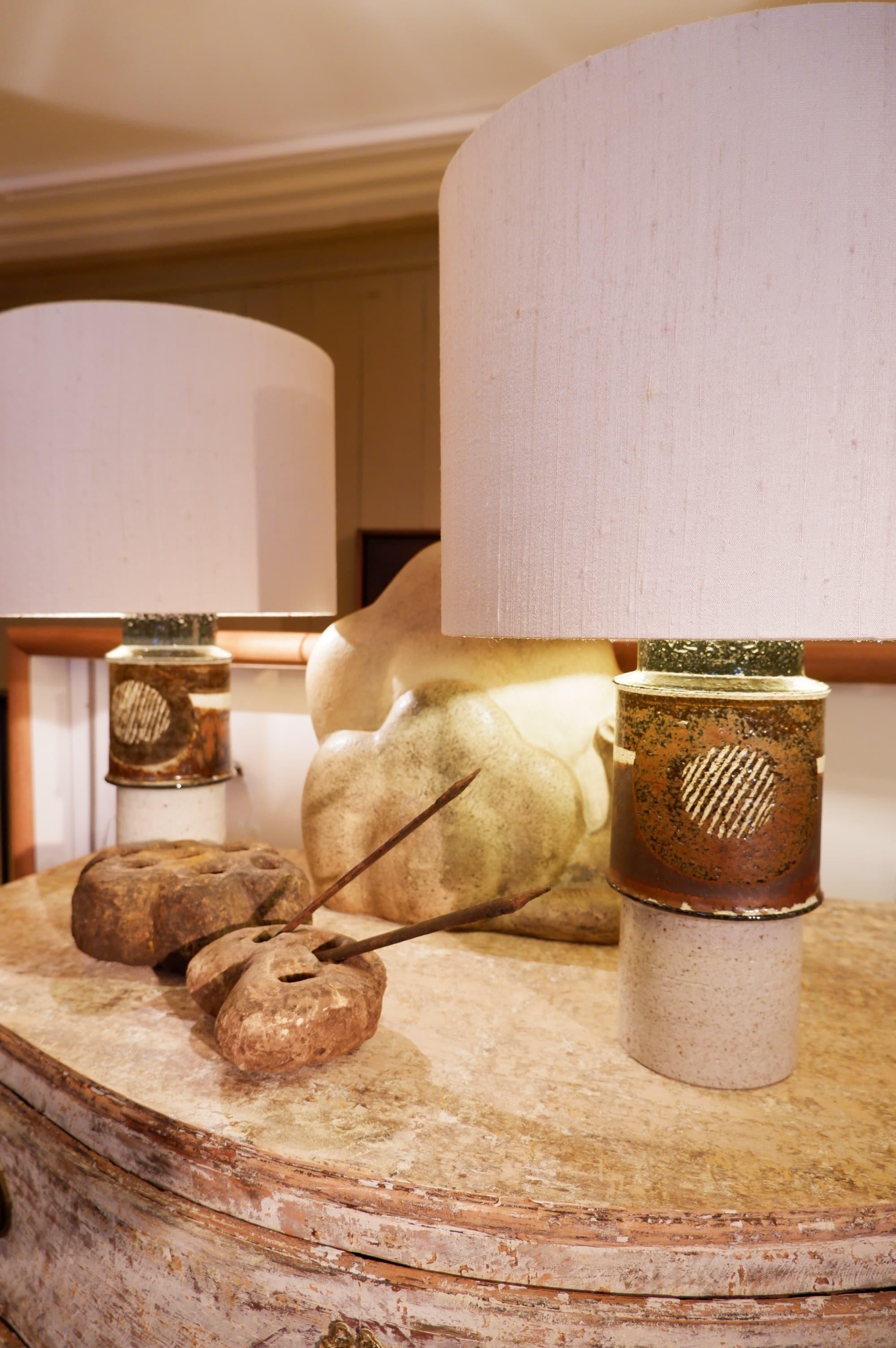 Paire de lampes en céramique signées Inger Persson pour Rorstrand – Suéde ca.1960