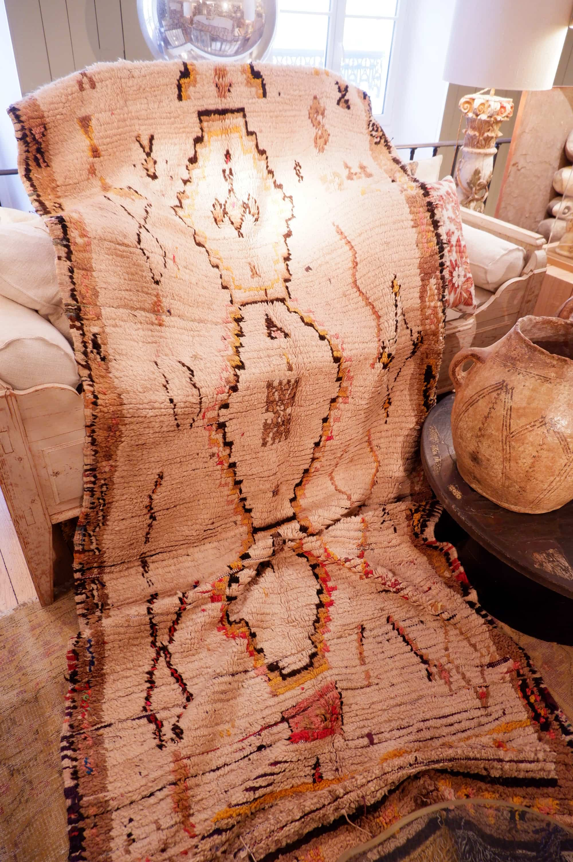Tapis en laine berbere de l'Atlas Marocain