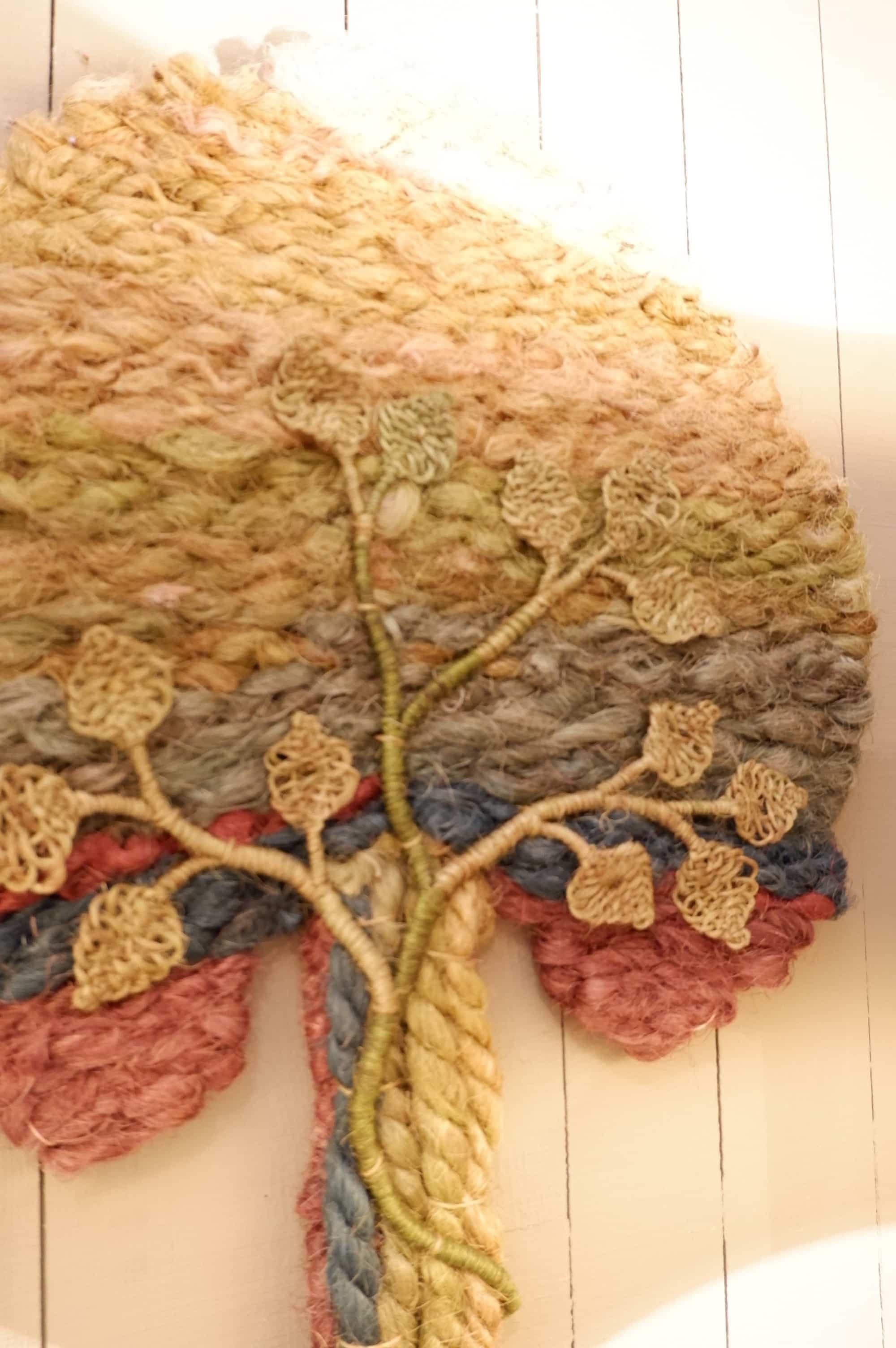"""Travail de tapisserie scandinave """"arbre de vie"""" ca.1960"""