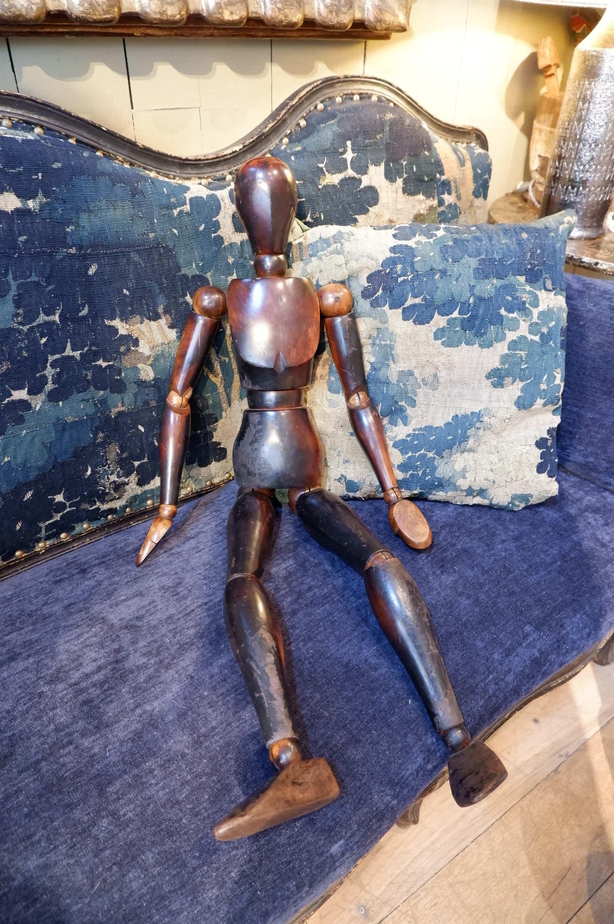 Grand mannequin d'artiste articulé XIXe