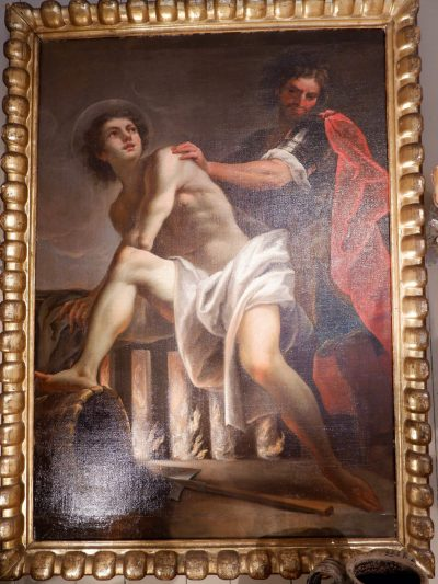 """The """"miracle of St. Roch"""" 17th century Neapolitan painting"""