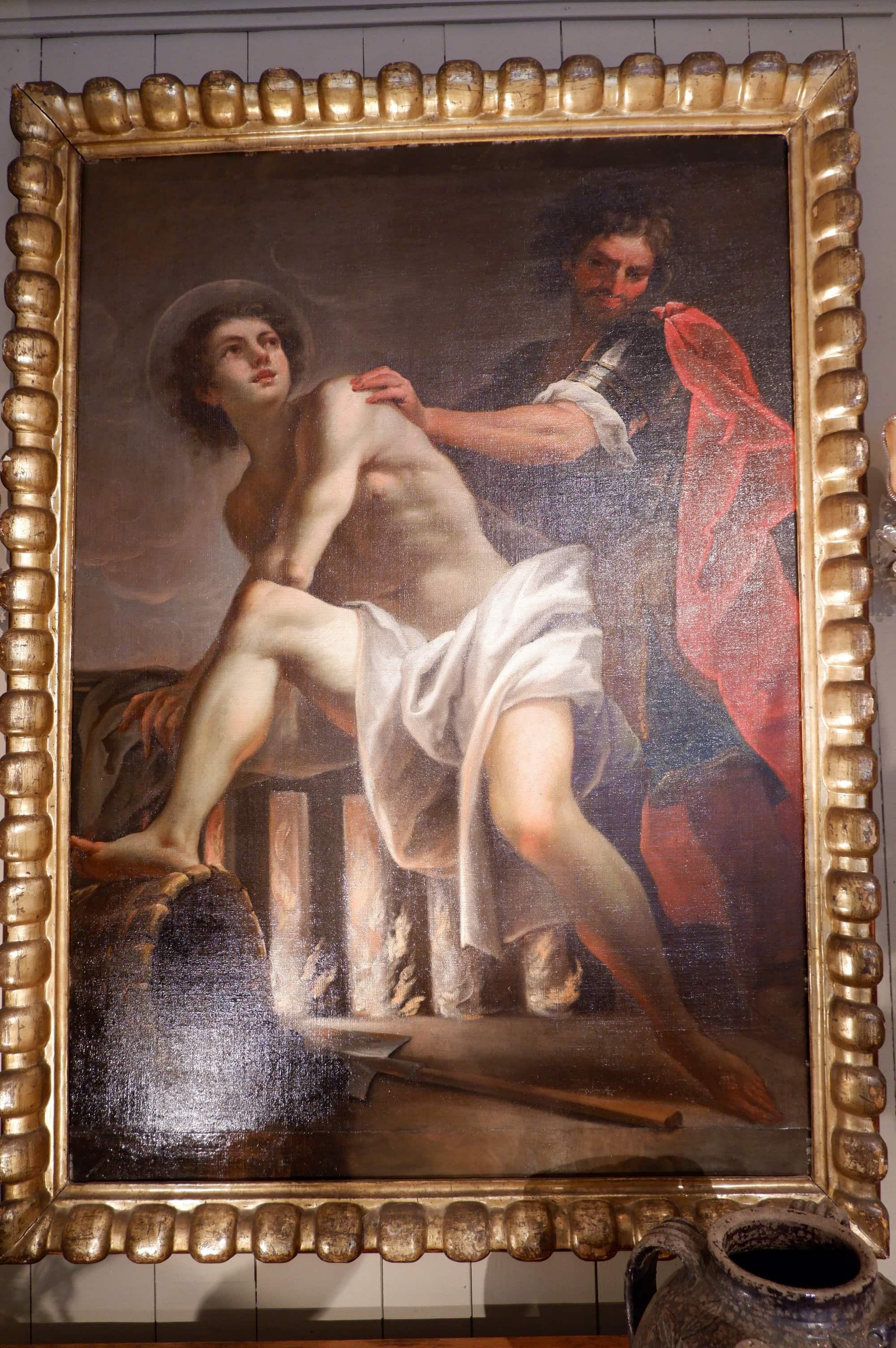 """Le """"miracle de Saint-Roch"""" peinture Napolitaine du XVIIe"""