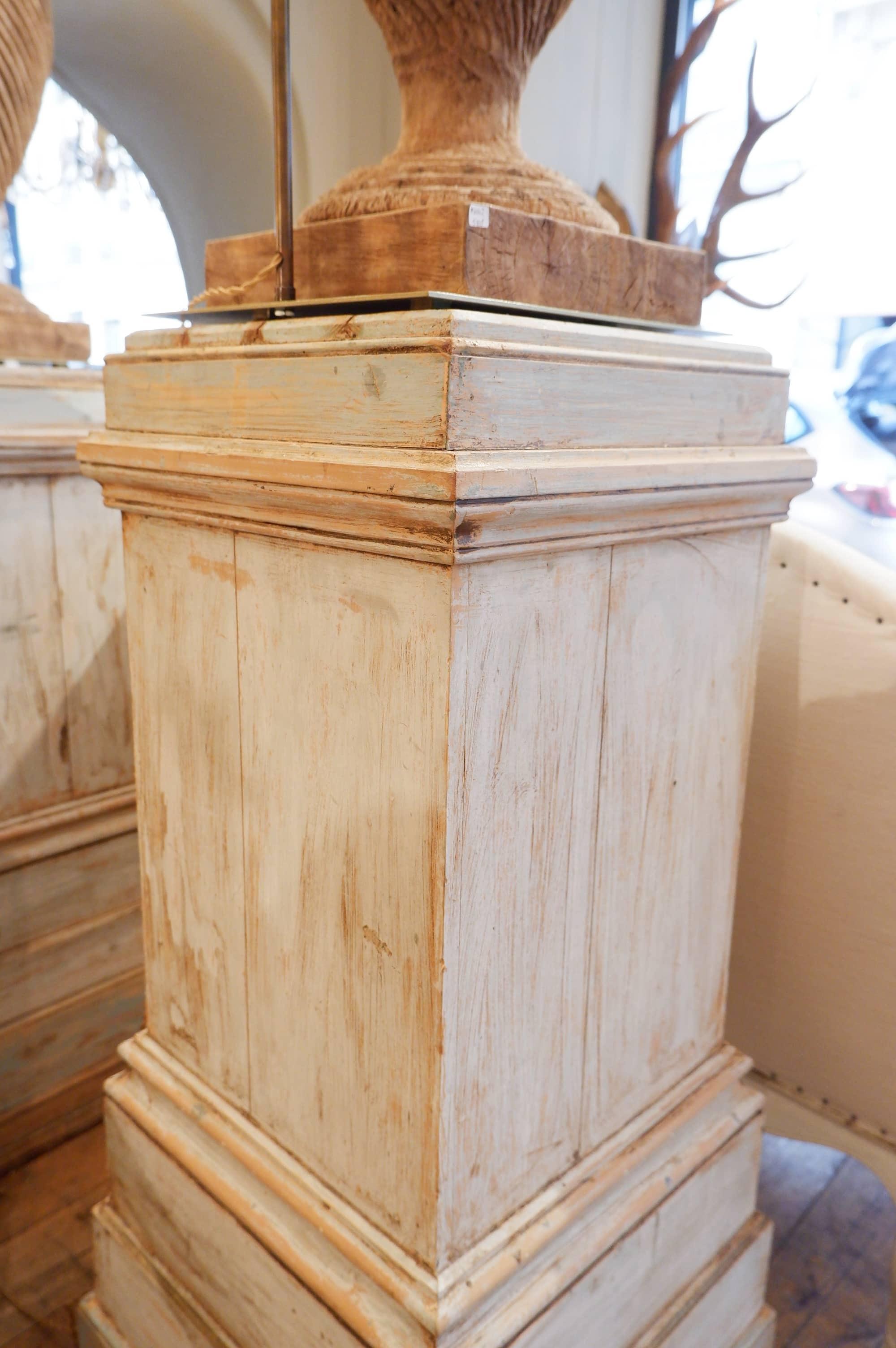 Paire de selettes en bois peint XIXe