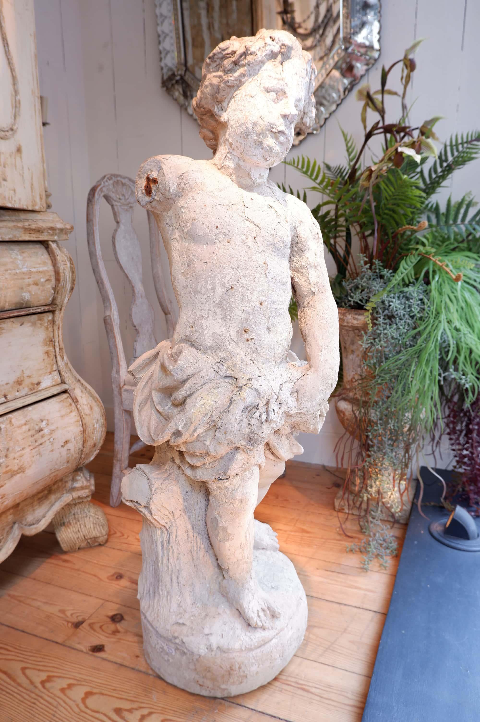Sculpture en terre cuite allégorie de l'été ca.1800