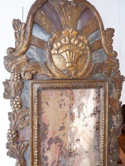 Miroir baroque en bois doré ca.1780