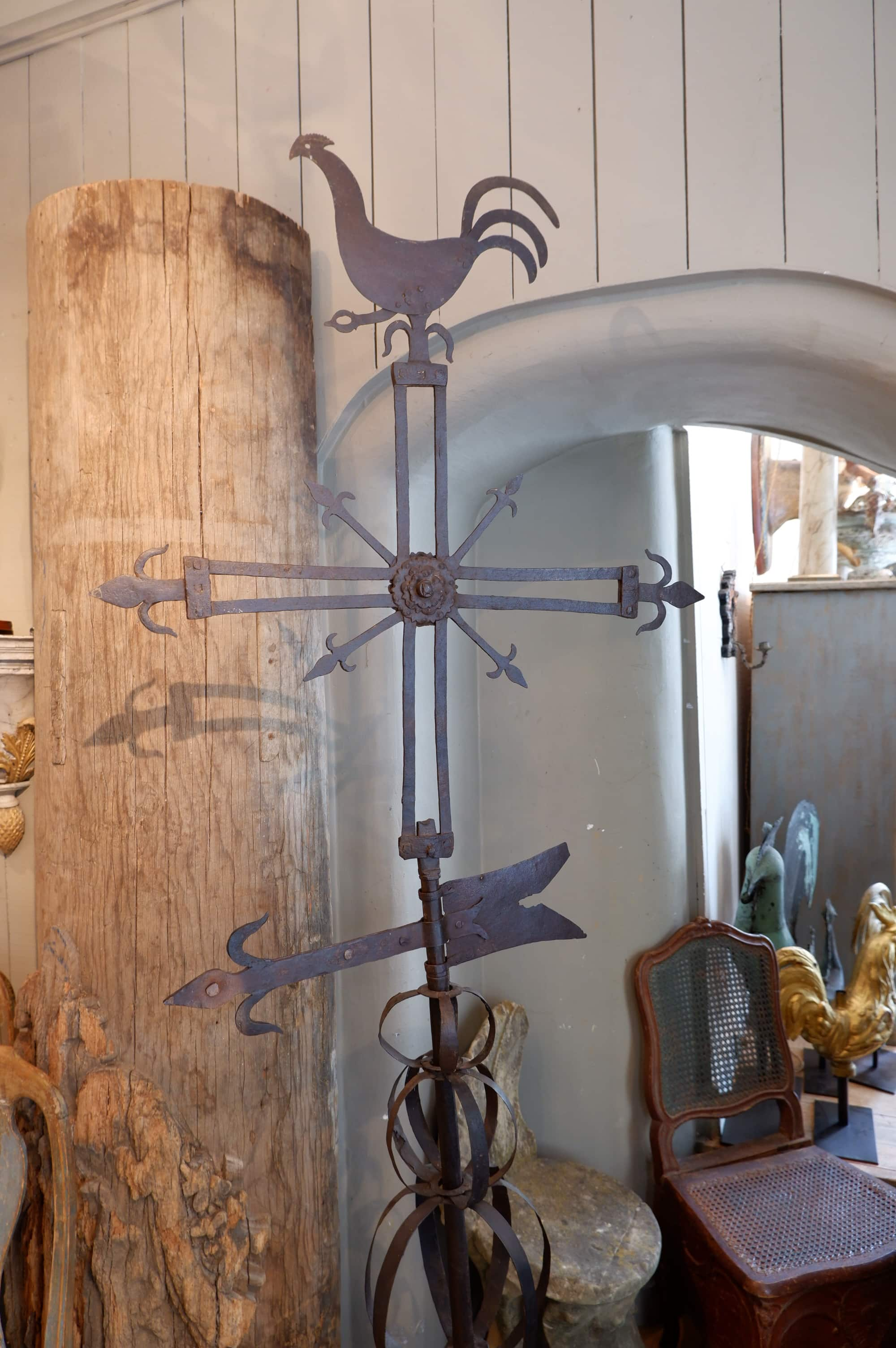 Grande girouette en fer époque XVIII – région des Flandres