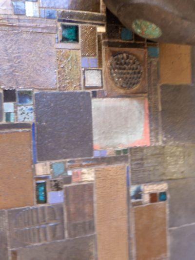 Table basse en mosaique de céramique signée Pia Manu ca.1970