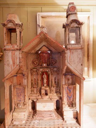Maquette d'Eglise miniature d'époque XIXe