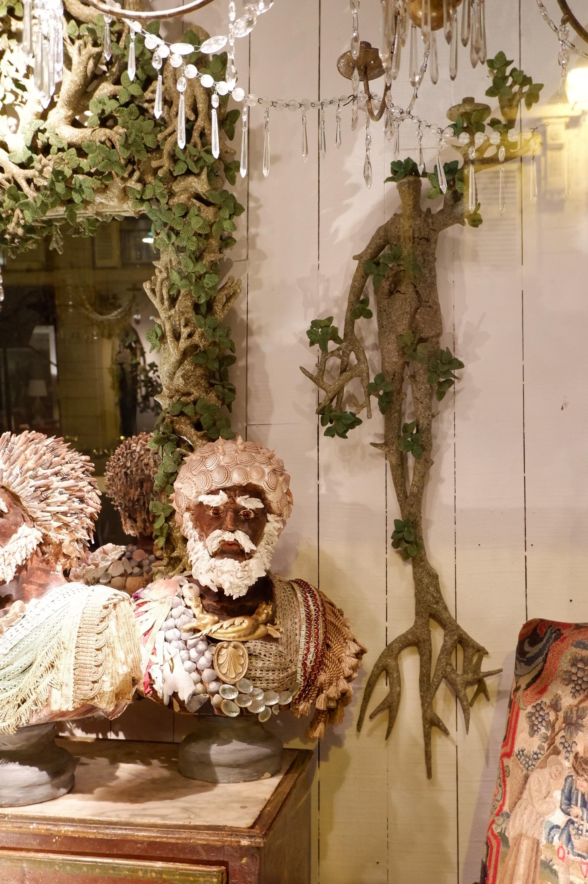 Paire d'appliques Mi-homme Mi-arbre par Edouard Chevalier