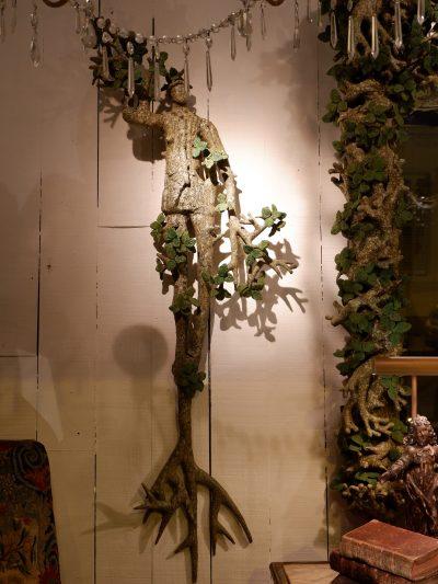 Pair of sconces Mi-homme Mi-arbre by Edouard Chevalier