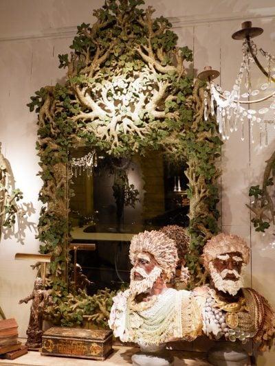 Miroir Feuilles vertes par Edouard Chevalier
