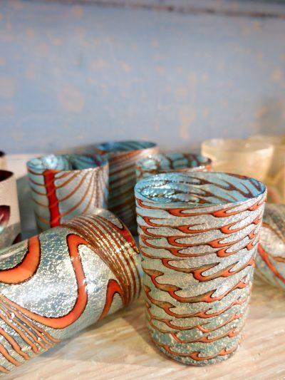 Gobelets en verre de Murano – piéces uniques pour la galerie