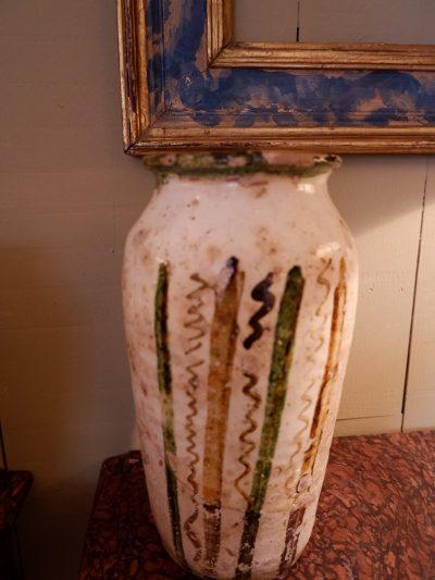 Ensemble de 4 vases en terre cuite émaillée, Majolique ca.1800