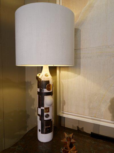 Grande lampe en céramique émaillée de Wouter Hoste ca.2016